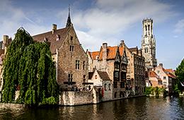 Dutch waterways with old architecture