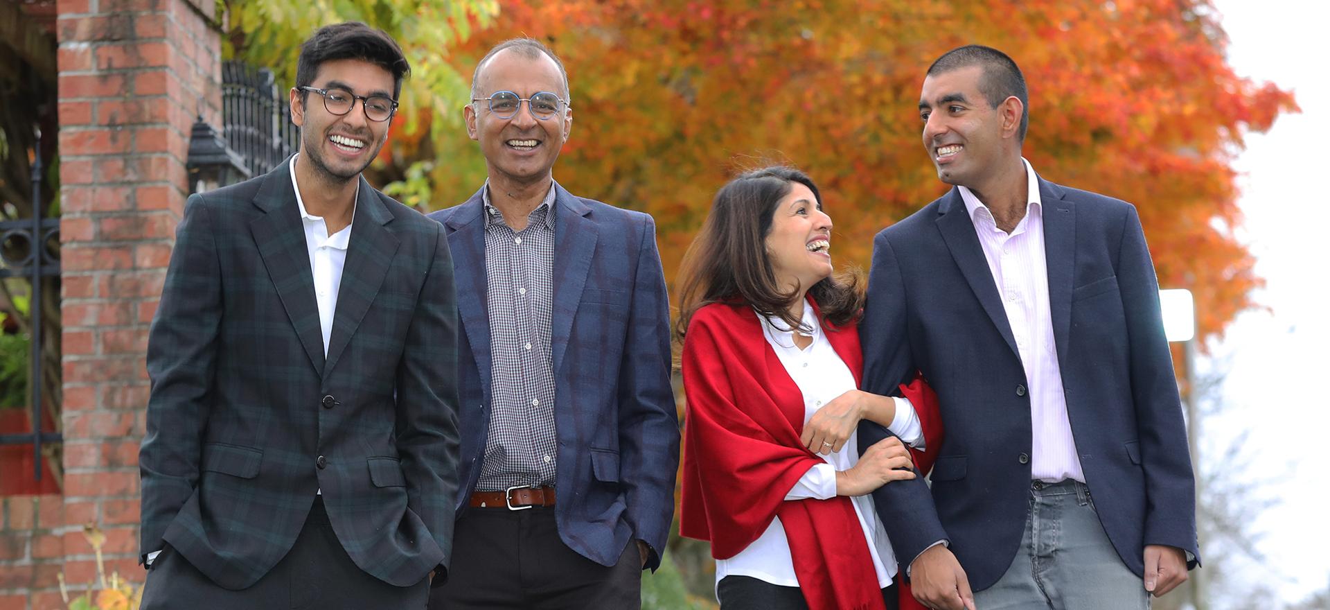 Ali '84 and Shahina Piyarali and family members