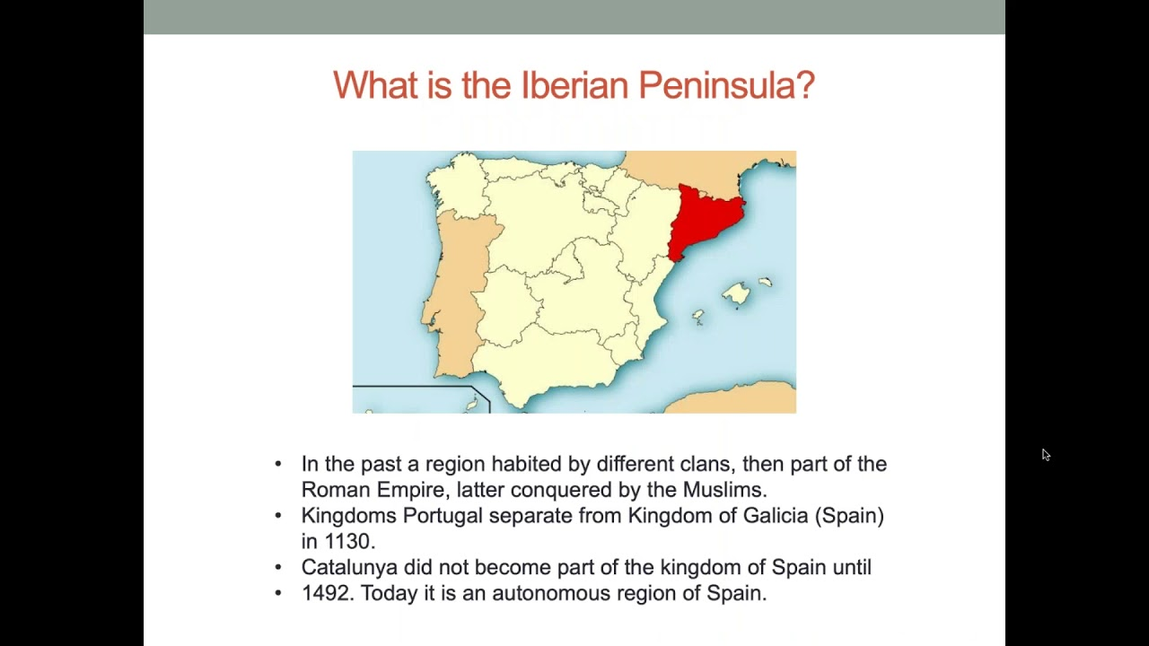 """""""What is the Iberian Peninsula' Spain and Portugal PowerPoint slide from presentation"""